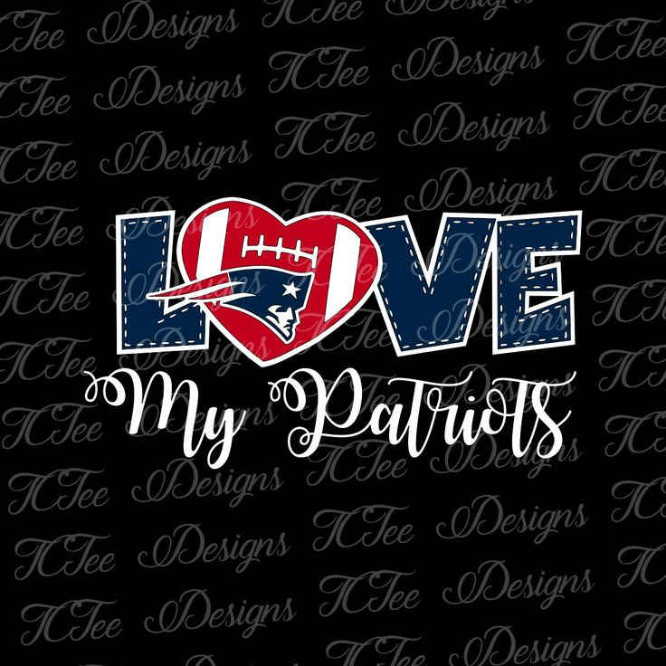 Love My Patriots - New England - Football SVG File - Vector Design Download - Cut File by TCTeeDesigns on Etsy