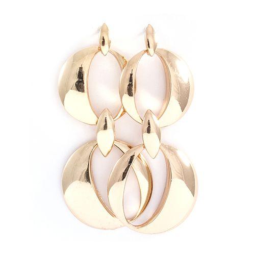 Dakota Metal Earrings in Gold