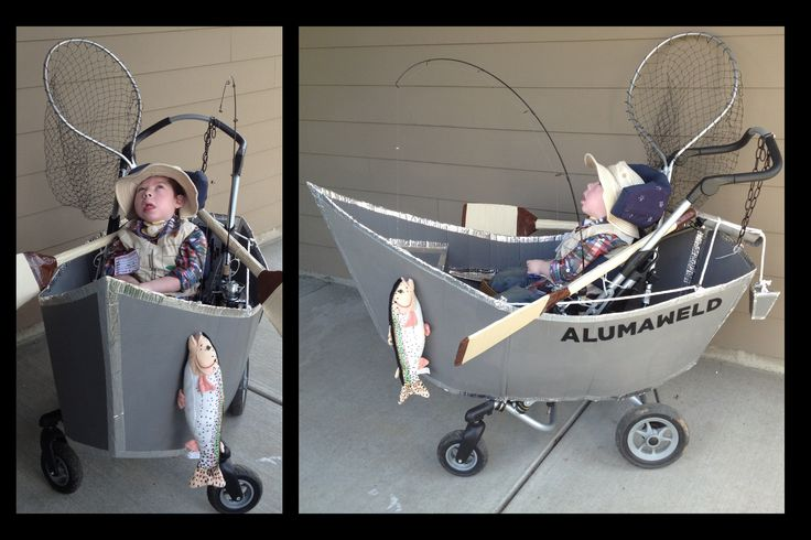 Hayden's fisherman wheelchair costume!  James did an awesome job creating it! #wheelchaircostume