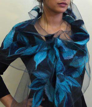 Alarte Silks catalog of nuno felt scarves by Izabela Sauer