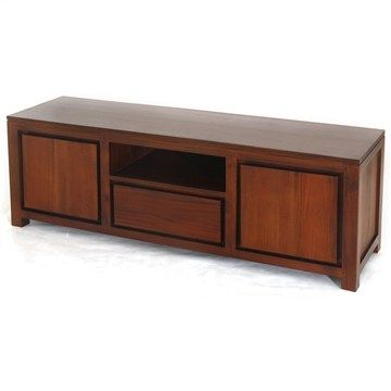 Amsterdam Solid Mahogany 2 Door 1 Drawer Entertainment Unit  in Mahogany