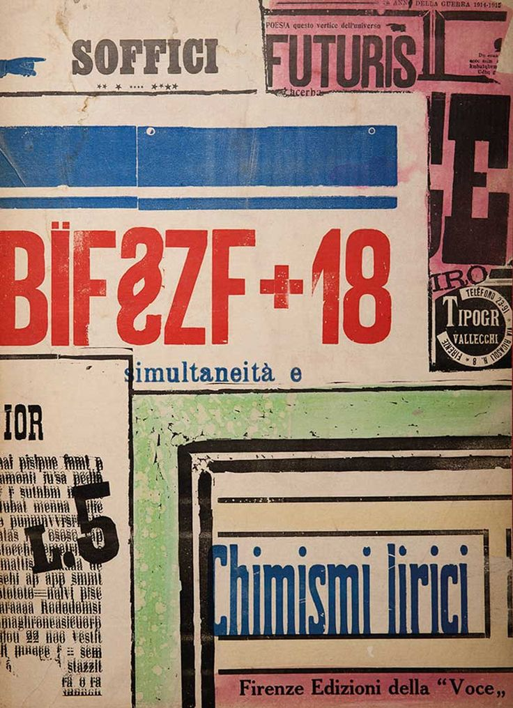 Futurism - Cover of BÏF§ZF+18 by Ardengo Soffici, 1915