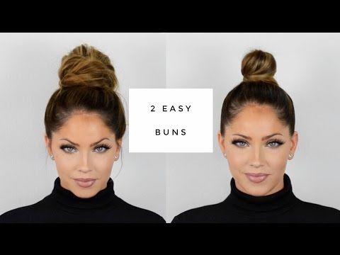 (3) OLIVIA PIERSON Hair Tutorial | Two quick & easy buns – YouTube
