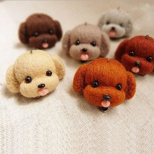 Needle Felted Wool Felting Animals Brown Dog Cute Craft | Feltify