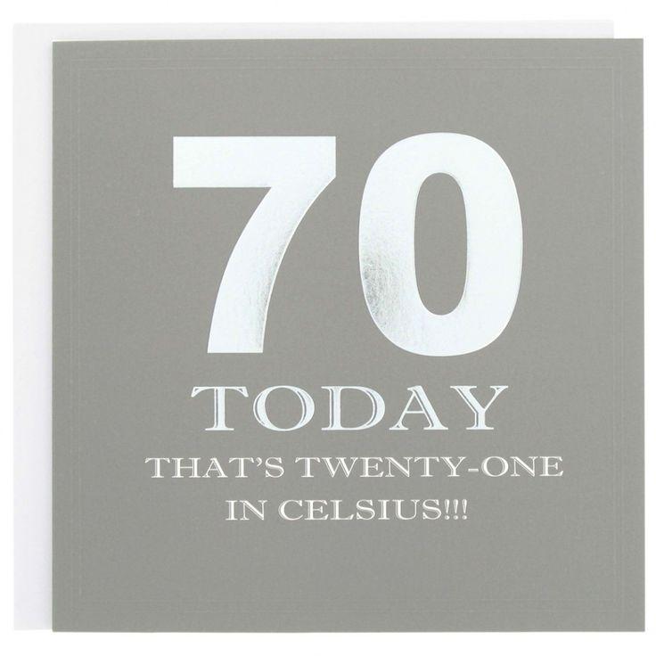 70th Birthday Cards Men