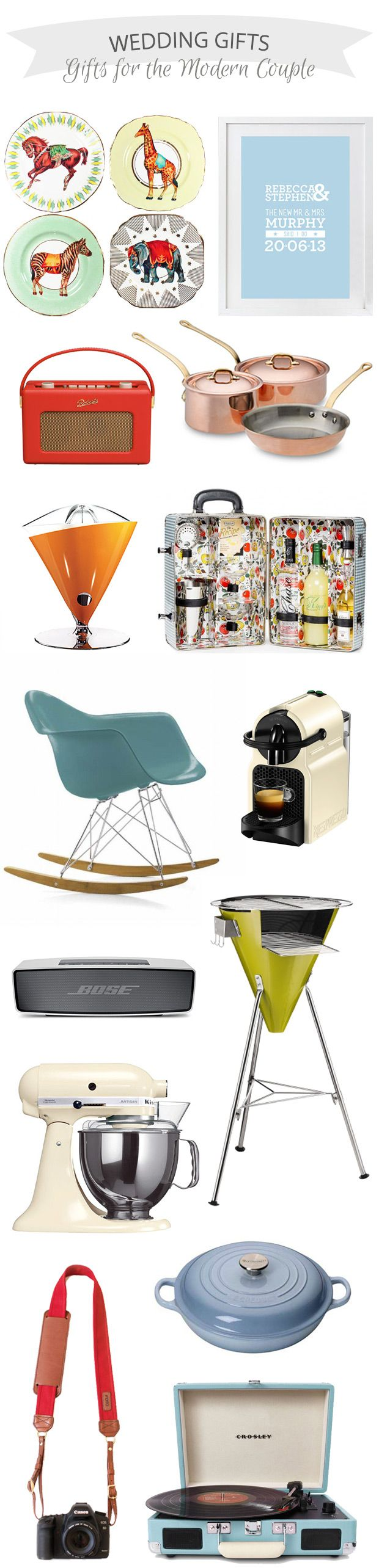 #Wedding #Gifts for the Modern Couple | www.onefabday.com