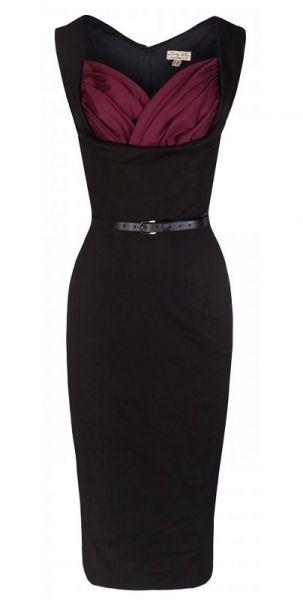POSHme - LindyBop pouzdrové šaty Vanessa, Sangria