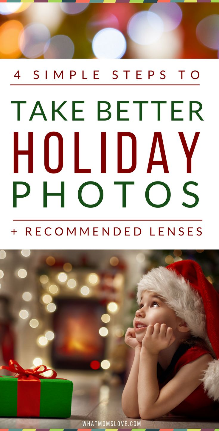 How To Take Better Photos | Easy Step-by-Step Tips To Get A Blurry Background In Your Pictures | Perfect for taking photographs of your kids on Christmas morning! Also includes the best DSLR lenses | from What Moms Love
