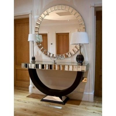 27 best images about glass framed mirrors on pinterest for Extra large round mirror