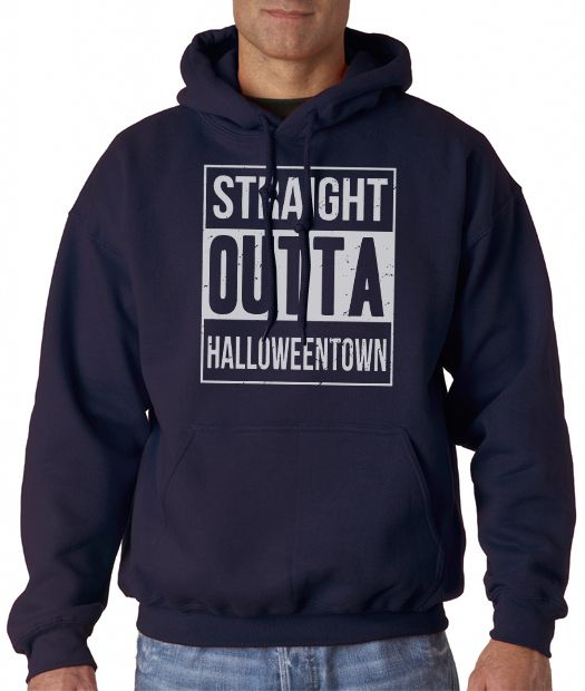 Straight Outta Halloweentown Men's Hoodies