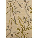 Colours AAliyah Beige & Green Trailing Leaf Rug (L)2.3m (W)1.6m | Departments | DIY at B&Q