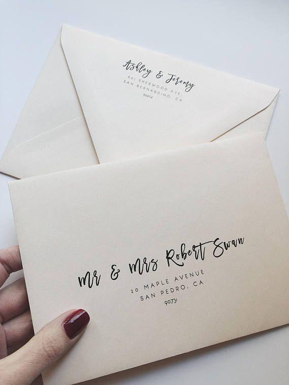 Wedding Envelope Template Address Envelope Template Diy Etsy Envelope Addressing Template Addressing Envelopes Wedding Addressing Envelopes