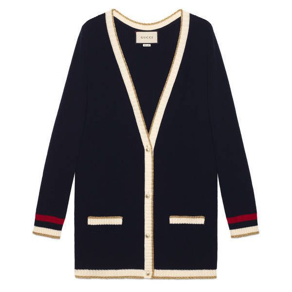 Gucci Embroidered Oversize Knit Cardigan (€1.380) ❤ liked on Polyvore featuring tops, cardigans, oversized tops, gucci, cardigan top, oversized knit tops and oversized knit cardigan