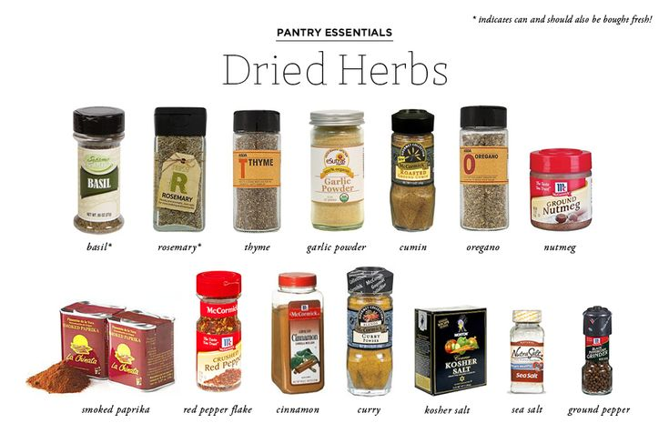 The Everygirl's Pantry Essentials: Food Items You Should Always Have in the Kitchen by @Clara Artschwager & @Shari Press // Dried Herbs