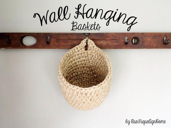 Oversized Hanging Wall Basket, Bathroom Storage Organizer, Eco-Friendly, Hook Storage Basket, Catchall, Towel Rack, Laundry Hamper, Display