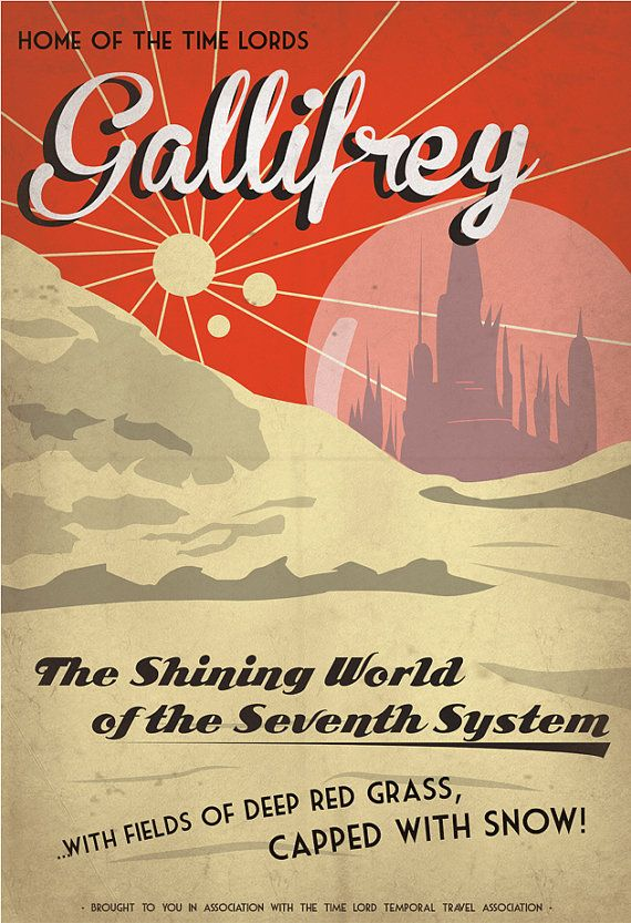 Retro SciFi GallifreyTravel Poster 13x19 by IndelibleInkWorkshop
