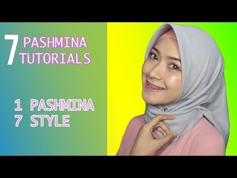 7 STYLE IN ONE PASHMINA, How To Wear Pashmina #Easy Hijab Tutorials - YouTube