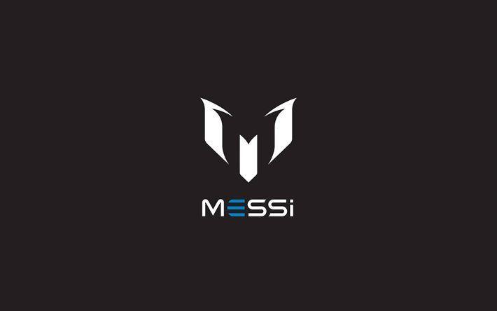Lionel Messi, logo, Leo Messi, football stars, minimal, L Messi