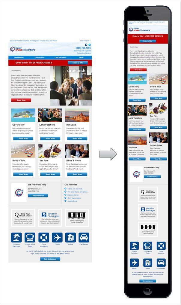 Best Mobile Edm Design Images On   Responsive Email