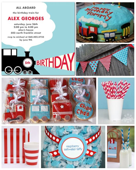 train birthday party ideas | Train Theme Birthday Party Inspiration Board cookie