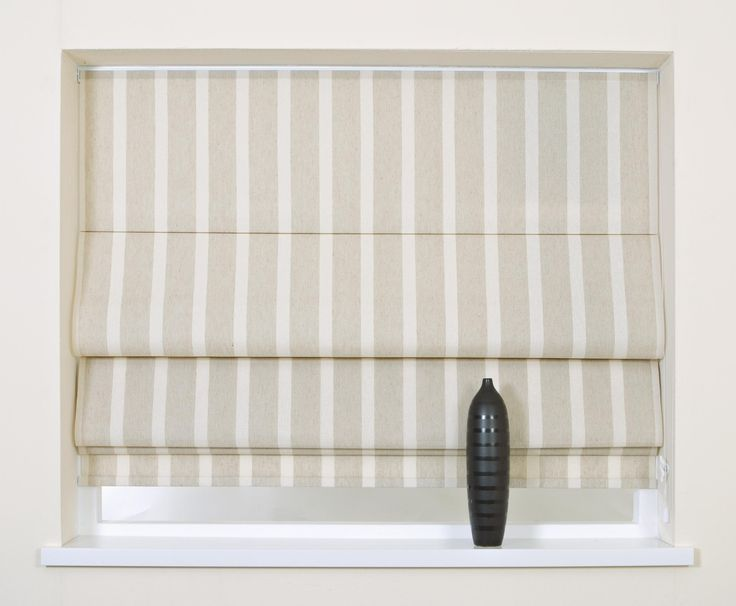 trimable roman blind