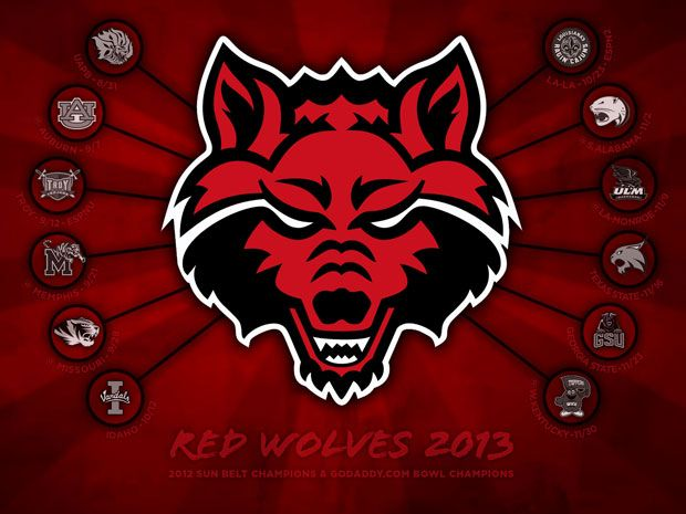 Red Wolves 2013 Schedule