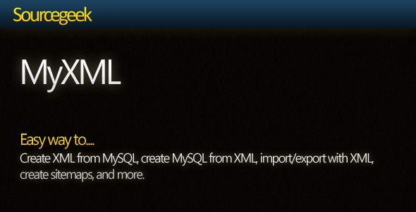 MyXML - Work with MySQL+XML