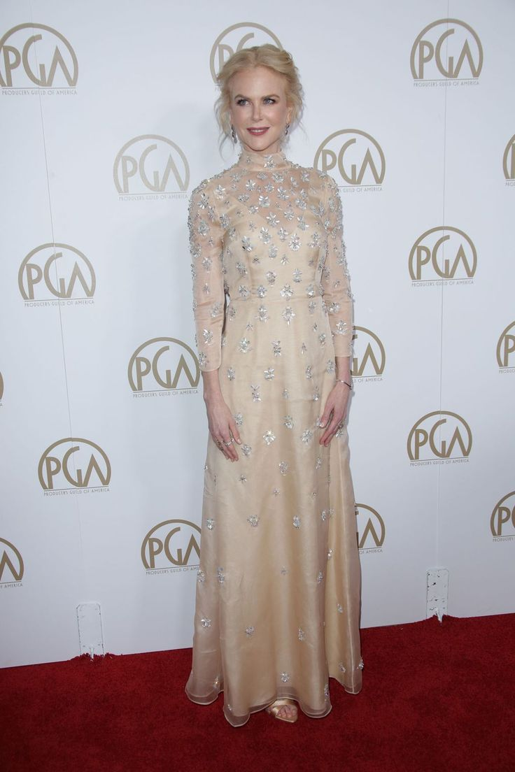 In Prada at the Producers Guild Awards, in LA, January 28 2017.