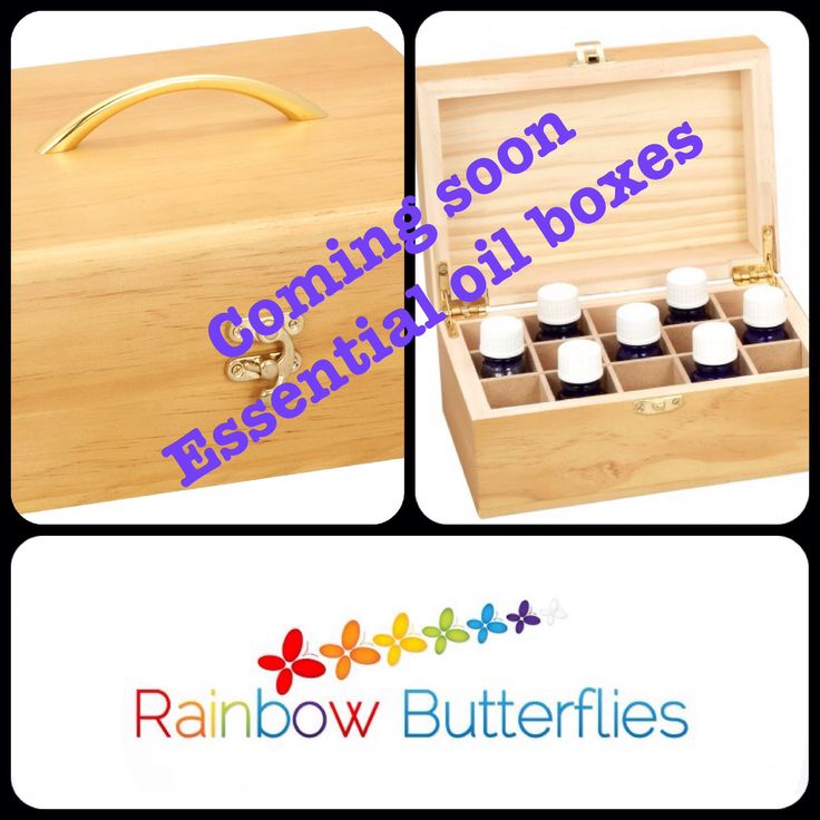 New essential oil boxes coming soon they hold 15 bottles of essential oils
