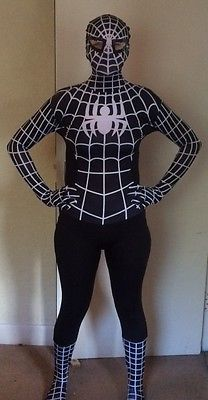 #Spiderman black #venom adult fancy dress costume - skin #tight lycra spandex,  View more on the LINK: http://www.zeppy.io/product/gb/2/381766882876/