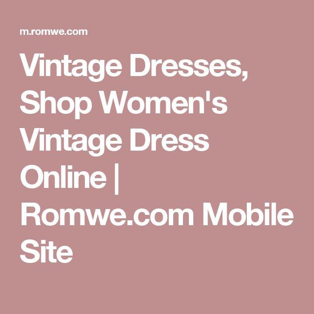 Vintage Dresses, Shop Women's Vintage Dress Online | Romwe.com Mobile Site