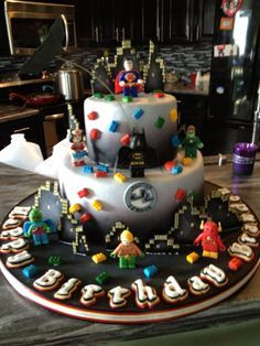 Lego Justice League Cake