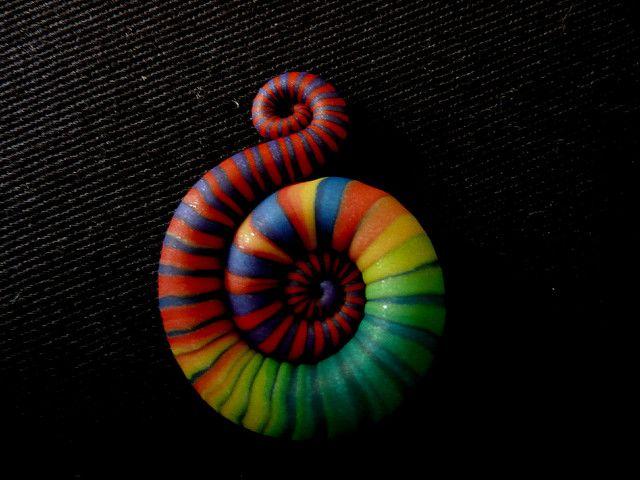 pendant of polymer clay