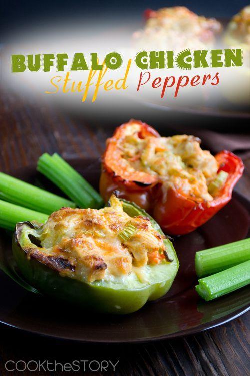 Buffalo Chicken Stuffed Pepper Recipe from @COOKtheSTORY