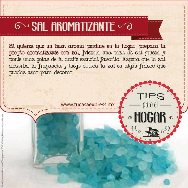 Mantén el buen aroma en tu hogar, haz tu propio aromatizante con granos de sal.