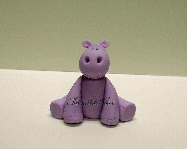 Hippo cake topper tutorial - by Melinartcakes @ CakesDecor.com - cake decorating website