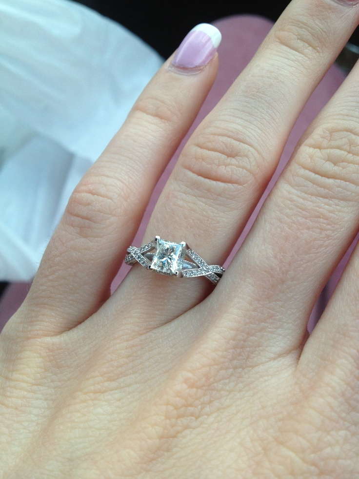 my tacori princess cut engagement ring wedding 10 17