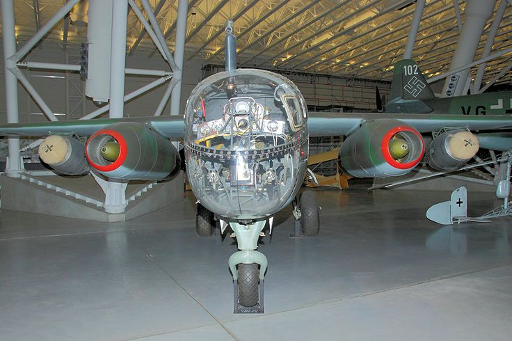 Front view of the Arado Ar 234 B-2 Blitz bomber.