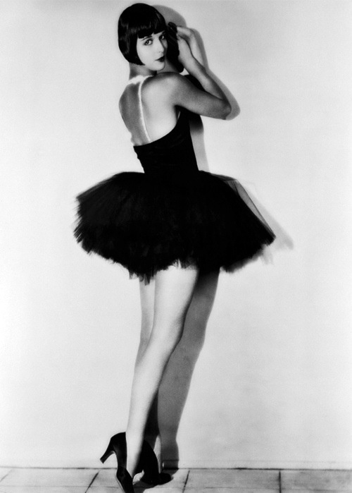 Louise Brooks In A Black Swan Tutu Dress And Heels