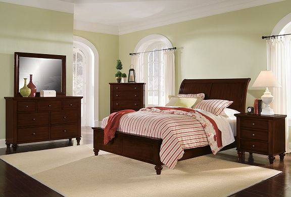 American Signature Furniture Savannah Cherry Bedroom Collection Queen Bed For The