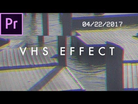 6) FREE Adobe Premiere Pro VHS Pack For Editors + How To Tutorial