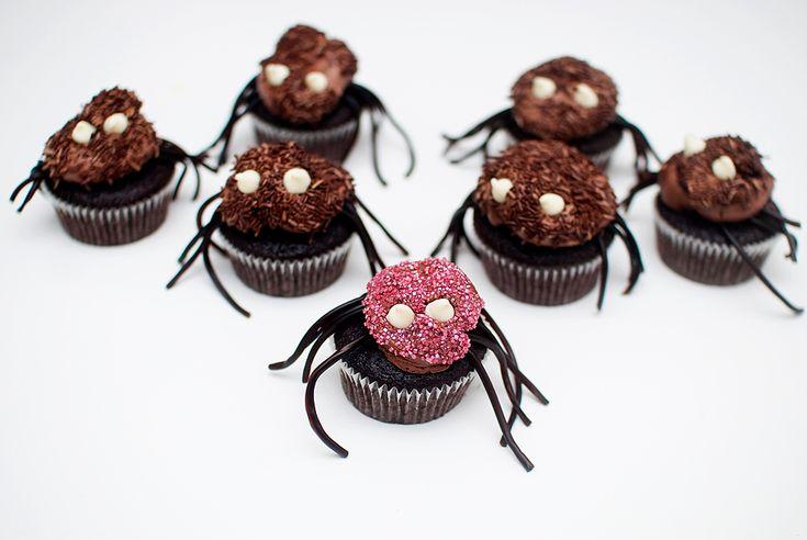 Edderkoppcupcakes