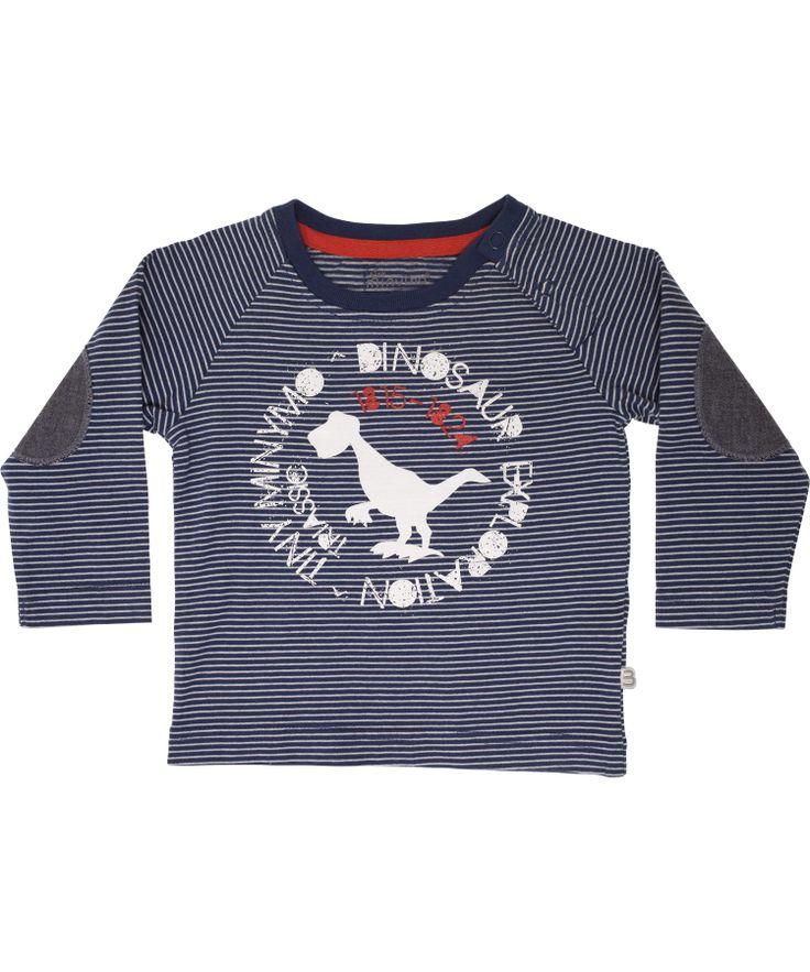 Minymo gestreepte t-shirt met dino print. minymo.nl.emilea.be