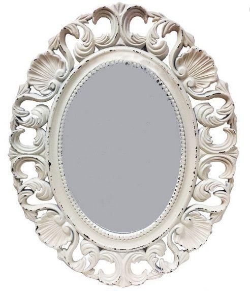 Vintage зеркало, белое