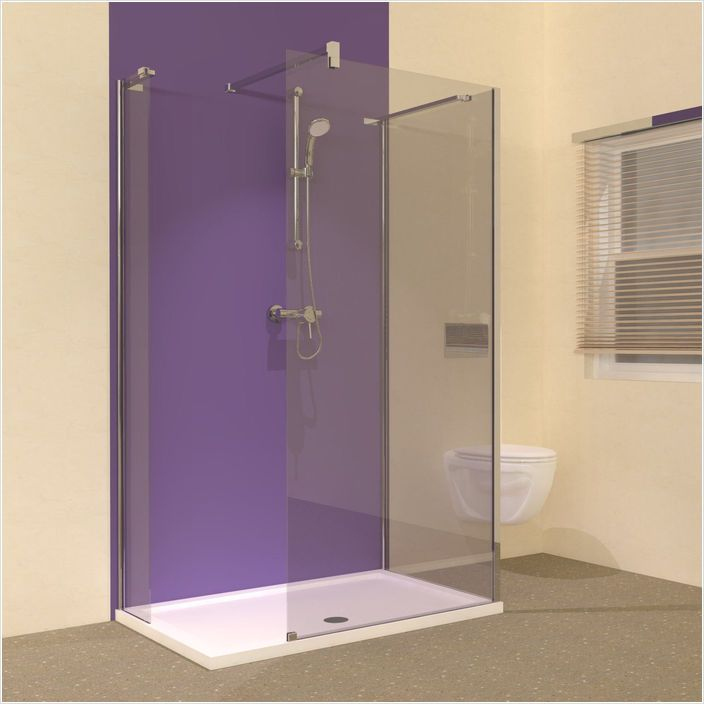 Line 3 Sided Walk In Shower Enclosure With Tray 1200 X 800