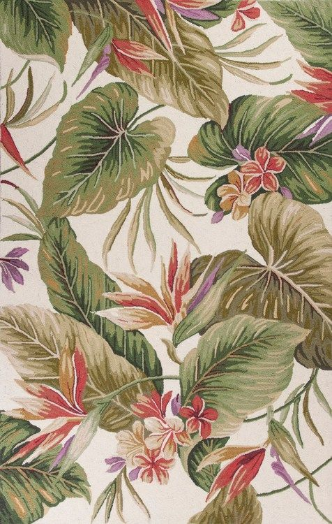 Ivory Tropical Paradise Rug  #BeachHouseCoastalDecor