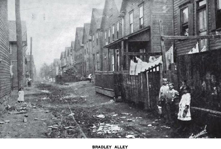 Old photo showing Bradley Alley in the Cambria City ...