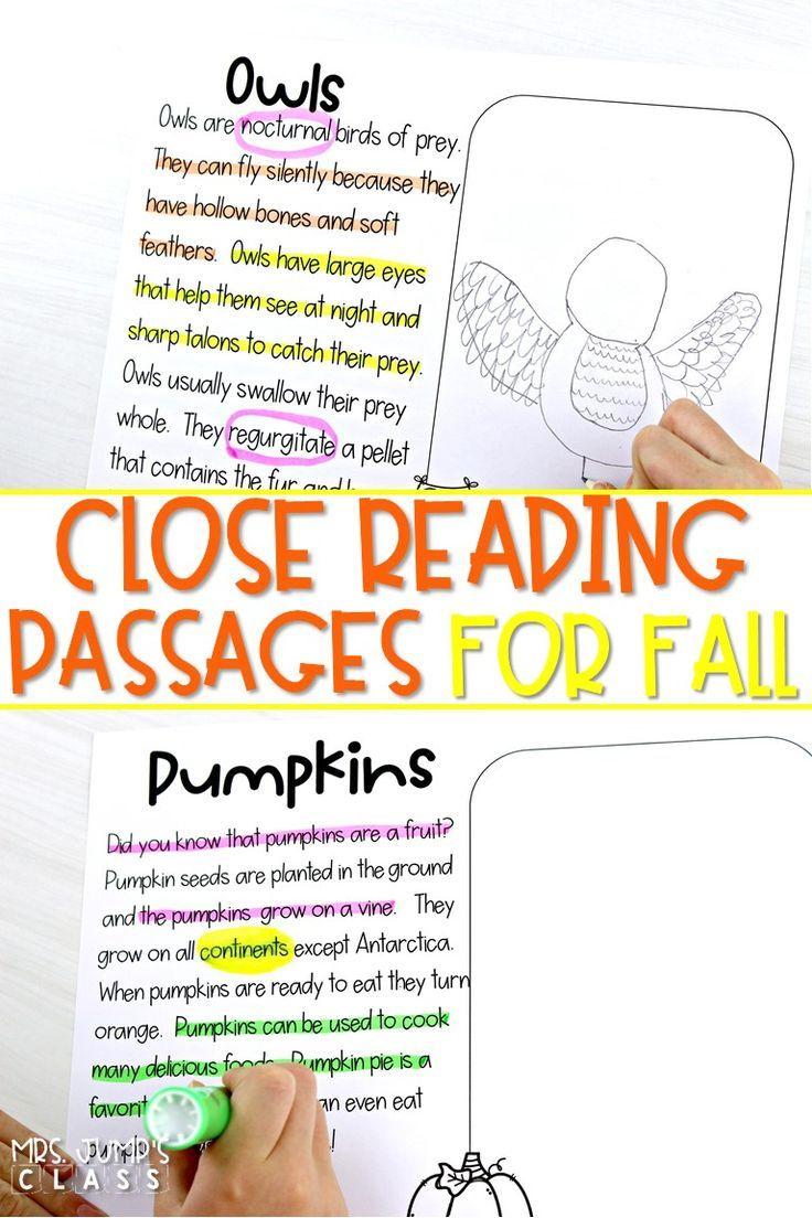 Close Reading Passages For Kindergarten 1st And 2nd Grade Close Reading Passages Cloze Reading Reading Passages [ 1104 x 736 Pixel ]