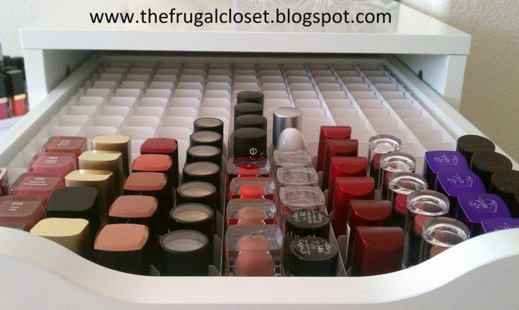 Make-up förvaring DYI nagellack
