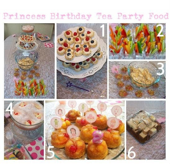 Recipes For Food From Our Princess Birthday Tea Party The Saturday Evening Pot